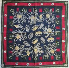 -Superbe Foulard ESPRIT  100% soie  TBEG vintage scarf