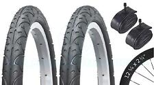 2 Bicycle Tyres Bike Tires - BMX / Freestyle - 12 ¼ x 2 ¼ - With Schrader Tubes