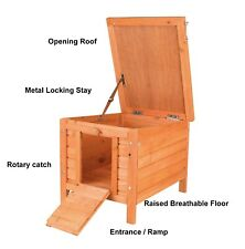 More details for outdoor wooden cat house / small dog enclosure run runs chicken duck tortoise