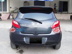Fit 2010-2014 Mazda 2 Hatchback Roof Spoiler Unpainted Rear Wing