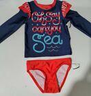 Cat & Jack Toddler Girls Patriotic 2 Piece Bathing Suit Size 2T