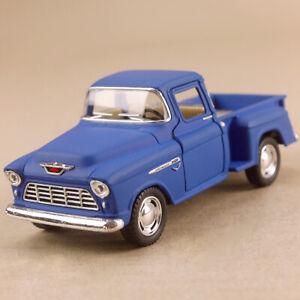1955 Chevrolet Stepside Pickup Matte Blue Chevy Ute 1:32 12.5cm Die-Cast Opens