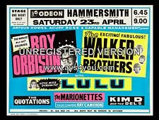 """Roy Orbison / Walker Brothers Hammersmith 16"""" x 12"""" Photo Repro Concert Poster"""