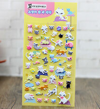 Korea Design Miss Cats 3D Bubble Sticker for Diary Reward Moblie Phone
