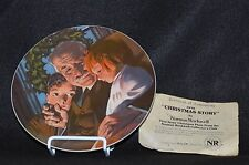 Norman Rockwell Collector Plate - Christmas Story -1978 W/Coa And Box