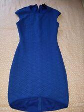 Topshop royal blue sleevless bodycon dress women's size EUR 38 U.S 6 U.k 10