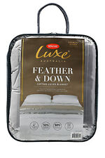 Tontine Luxe Feather & Down Blanket KING/SUPER KING size in Grey Chateau RRP$279