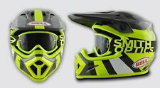 BELL MX-9 MOTOCROSS HELMET COMBO - HI-VIZ YELLOW / BLACK + FREE SMITH GOGGLES