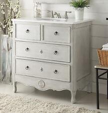 """34"""" Cottage look Daleville Bathroom Sink vanity Model HF081-CK (Distressed Grey)"""