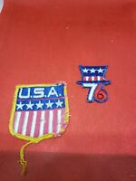 AMERICAN FLAG -  '76 -  SEW-ON PATCH Lot of 2