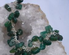 Sterling Silver & JADE Bracelet. HAND CRAFTED. In a pouch.