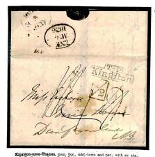 A161 GB ADD HALF *Kingston* Surrey Cover Per London Penny Post 1836 Cover