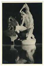 Photographie de Sculpture décharnée vers 1930 ombre & lumière signée Ch. Borg