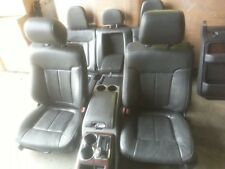 12 Ford F-150 black interior leather seats door panels center console dash trim