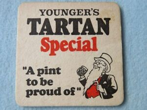 Beer COASTER ~ YOUNGER'S Tartan Special ~ Scottish Atrractions: Inverewe Gardens