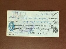 b1u ephemera cashed barclays bank 62241 july 1947 aspell franked