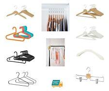 IKEA Plastic Wooden Metal Coat Clothes Hangers Wardrobe Kids Childrens White