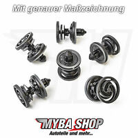 10x Türverkleidung Befestigungs Clips für VW T5 Touareg Caddy Audi | 7L6868243