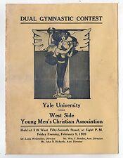 RARE 1909 YALE UNIVERSITY New York YMCA Gymnastics Program COLLEGE Sports IVY