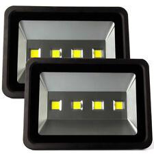 2× 200W LED Flood Light Lamp for Outdoor Garden Yard Cold White 110V 220V Black