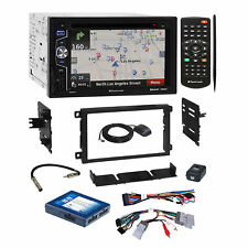 Planet Audio DVD USB GPS Stereo Dash Kit Onstar Harness for 2000+ GM Chevrolet