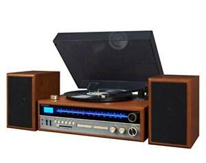 Crosley 1975T Turntable System w Bluetooth CD AM FM Radio, Walnut