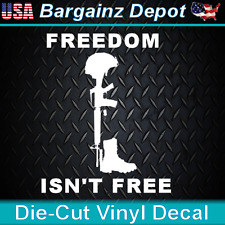Freedom Isn'T Free. Fallen Soldier Military Vet Sticker Car Laptop Vinyl Decal