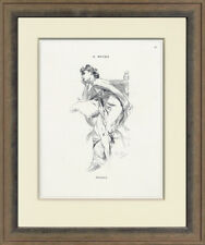 "Rare, Original 1898 ""Reverie"" by Alphonse Mucha for Cocorico, Custom Framing"