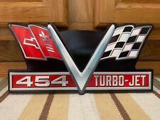 Chevrolet Corvette Metal Sign 454 Turbo Jet Motor Parts Sting Ray Vintage Style