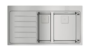 Teka  - ZENIT RS15 1 1/2B 1D L AUTO, Edelstahl-Einbauspüle, Becken recht - 100cm