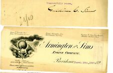 1892 GC Sims Autograph Signature Armington & Sims Steam Engine Co Providence RI