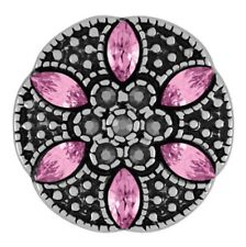 GINGER SNAPS™ LUCIA FLOWER - PINK SN15-40  BUY 4, GET 5TH $6.95 SNAP FREE