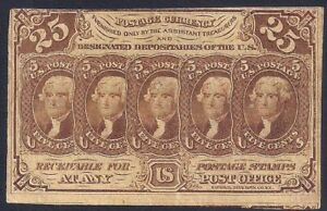25 Cents Postage Currency Fractional Currency 1st issue, Fr-1281