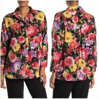 Catherine Malandrino Top Floral Button Up Women's Blouse Size Medium NWT