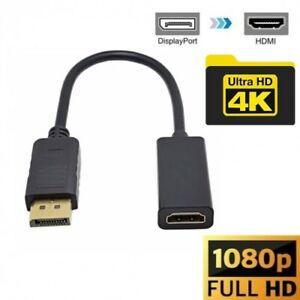 CAVO ADATTATORE DISPLAYPORT A HDMI 1080P, CONVERTITORE HDTV, MONITOR PROIETTORI