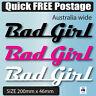 Buy 2 Get 1 Free BAD GIRL  Sticker SUIT CAR BIKE BOAT 4X4 4WD VINYL DECAL