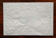 SMALL VICTORIAN LACE PAPER GREETINGS ENVELOPE MEEK & CARD EMBOSSED GILDED COUPLE
