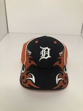 Detriot Tigers Baseball Hat with Fire Flame Accents Youth Size