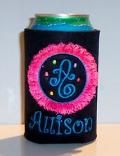 PERSONALIZED Unique Koozie Coolie Can Cover with a FRINGE Design very different!
