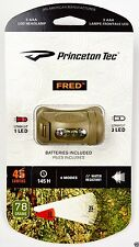 Princeton Tec Fred Tan Light Color Red & White Head Lamp FRED-TAN