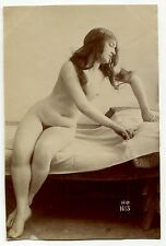 Photo Henri Oltramare - Nu - Tirage citrate 1890 -