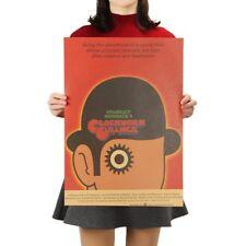 Clockwork Orange Movie Poster Vintage Retro Kraft Paper Poster Free Shipping