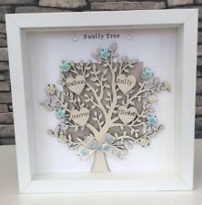 Personalised Family Tree Frame Gift Mothers Day Grandma 💛