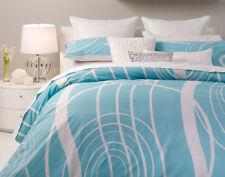 3 Pce MURRAY White Blue QUEEN Size Quilt Doona Duvet Cover Set LOGAN & MASON