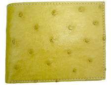 T. Marcus Rfid CobalTex Handmade Ostrich Leather Bifo 00006000 Ld Wallet Amber Unique Gift