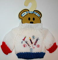4th Of July Plush Animal Teddy Bear Knit Sweater Outfit fits 11-13 inch New MOC