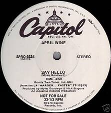 "APRIL WINE + CHERIE & MARIE CURRIE ((**NEW-UNPLAYED 12"" DJ SINGLE**)) from 1980"