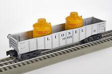Lot 4102 Lionel 1002x Ouvert Wagons Avec Deux bidons (Gondola), piste 0