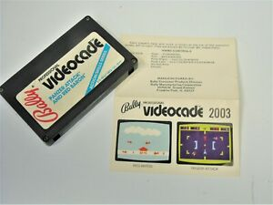 NTSC Bally Astrocade Videocade Panzer Attack with Manual Video Game System