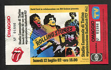 1982 Rolling Stones Tattoo You Tour Unused Full Concert Ticket Turin Italy 7/12